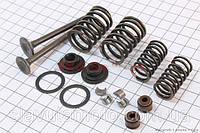 Клапан впуск., вип. повний к-кт 64мм (TATA) скутер 50-100 куб. см, фото 1