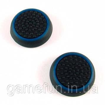 PS4/Xbox One силіконові накладки на ручки аналогів (Black-Blue)