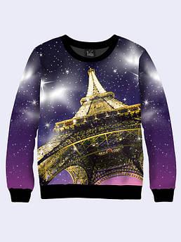 Женская толстовка Космический Париж. Размер 42 - 50