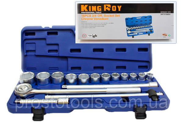 Набор инструмента 16 предметов 3/4 King Roy 7394