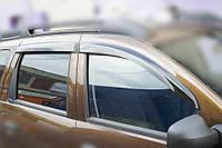 Комплект автомобильных дефлекторов окон ветровиков Renault Duster 2011 ТРЕТЬЯ ЧАСТЬ (Рено Дастер) Cobra Tuning