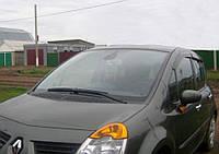 """Комплект автомобильных дефлекторов окон ветровиков Renault Modus 5d 2004-2008 """"EuroStandard"""" (Рено Модус) Cobra Tuning"""