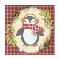 """Схема для вышивки гладью """"Подушка """"Пингвин"""""""