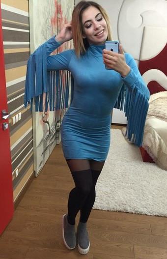 Замшевое платье 3158