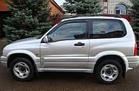 Комплект автомобильных дефлекторов окон ветровиков Suzuki Grand Vitara I 3d 1998-2005 (Сузуки гранд витара 1) Cobra Tuning