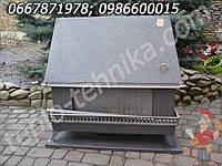 Оригинальный газовый чугунный камин конвектор зрелищного типа с эффектом горения огня