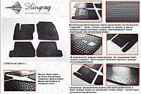 Комплект резиновых ковриков в автомобиль (полиуритановые) Ford Focus 11 (Форд Фокус) (4 шт), Stingray