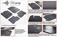 Комплект резиновых ковриков в автомобиль (полиуритановые) Dacia Logan 13 (Дача Логан) (2 шт) передние, Stingray