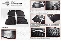 Комплект резиновых ковриков в автомобиль (полиуритановые) Mazda 6 08 (Мазда 6) (2 шт) передние, Stingray