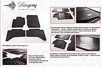 Комплект резиновых ковриков в автомобиль (полиуритановые) Mitsubishi L 200 11 (Митсубиси) (2 шт) передние, Stingray