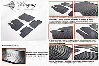 Комплект резиновых ковриков в автомобиль (полиуритановые) Mitsubishi Lancer X 07 (Митсубиси) (4 шт), Stingray