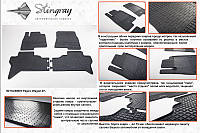Комплект резиновых ковриков в автомобиль (полиуритановые) Mitsubishi Pajero Wagon 07 (Митсубиси) (2 шт) передние, Stingray
