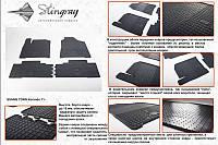 Комплект резиновых ковриков в автомобиль (полиуритановые) SangYong Korando 11 (Ссанг Йонг Корандо) (2 шт) передние, Stingray