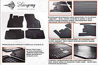Комплект резиновых ковриков в автомобиль (полиуритановые) VW Golf VII 13 (Фольксваген Гольф) (4 шт), Stingray