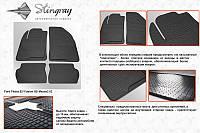 Комплект резиновых ковриков в автомобиль (полиуритановые) Mazda 2 02 (Мазда 2) (2 шт) передние, Stingray