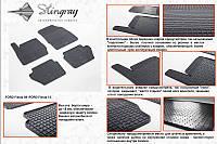 Комплект резиновых ковриков в автомобиль (полиуритановые) Ford Fiesta 13 (Форд Фиеста) (4 шт), Stingray