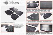 Комплект резиновых ковриков в автомобиль (полиуритановые) Toyota Camry XV50 11 (Тойота Камри) (2 шт) передние, Stingray