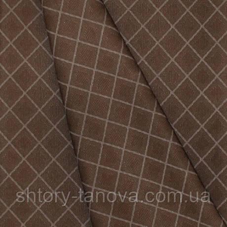 Професійна тканина для скатертини в ресторан і кафе ромб КАШТАН просочення від бруду, вологи, пилу