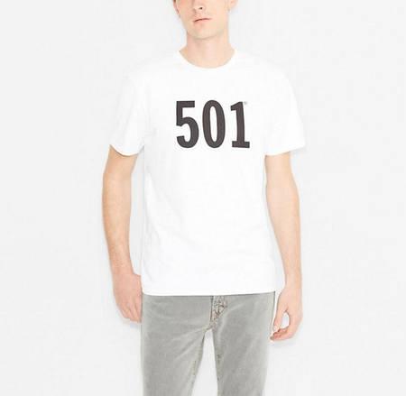 Мужская футболка Levis 501 Tee - White (XL)