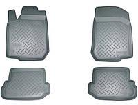 Комплект резиновых ковриков в автомобиль (полиуритановые) Kia Rio (RUS(QB) (2011) (Киа Рио) (4 шт), NORPLAST