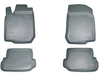 Комплект резиновых ковриков в автомобиль (полиуритановые) Peugeot 208 (2012) (Пежо 208) (4 шт), NORPLAST