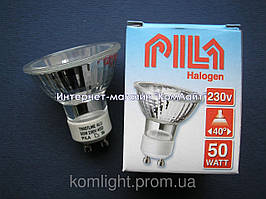 Лампа галогенная PILA Twist Alu 50W GU10 230V 40D (Китай)