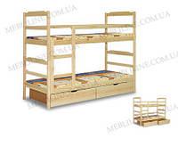 """Двухъярусная кровать """"Франциск"""" с бортиками на нижнем ярусе, фото 1"""