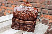 Оригинальный керамический бочонок для вина