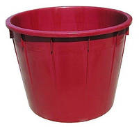 Кадка цвет красный вместимость - 100 литров, размер 75*33 см