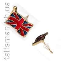 Серьга-гвоздик - SG-24 - флаг Великобритании