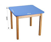 Детский стол деревянный цветной, синий 026 Финекс Плюс
