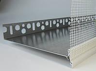 Профиль завершающий с армирующей сеткой на цокольный профиль длина 2.5 м.п