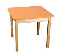 Детский стол деревянный цветной, оранжевый 023 Финекс Плюс