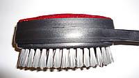 """Щетка """"Lux"""" для одежды с тканевой чистящей частью с поворотной головкой, щетинной из PVC и обувной ложкой. 320"""