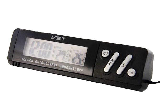 Часы автомобильные VST с датчиком температуры