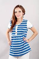 Пижама для беременных и кормящих мам Синяя полоска
