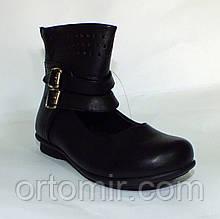 Туфлі з пряжками чорні