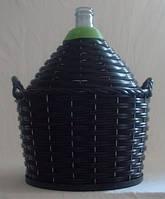 Бутыль-демиджон, без крана для вина с пластиковой крышкой Итальянское стекло.Объем - 54 литра
