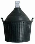 Бутыль-демиджон с пластиковой крышкой, Итальянское стекло. Объем - 54 литра