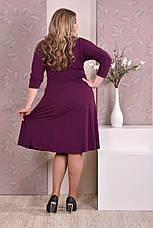 Красивое платье больших размеров 0205 слива, фото 3