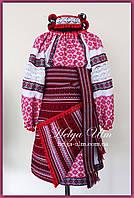 """Український костюм (стрій) для дівчинки 116 """"Анна-Марія"""" (червоний), на замовлення"""
