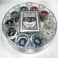 Покерный набор Покер 100 пластик (карты + фишки) 62009