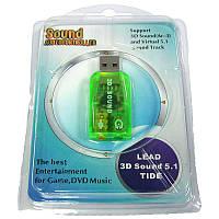 Переходник   AT-com USB-sound card(5.1) 3D sound 5.1