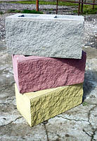 Блок декоративный рваный 190*390*140 серый