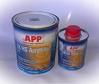 Грунт наполняющий 2K HS Acrylfiller 5:1,1л (Серый)+отвердитель