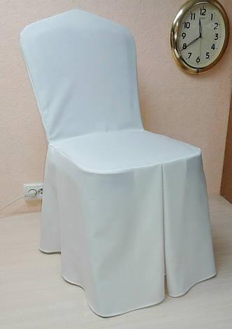 Чехол на стул Трапеция из прочной лёгкой ткани Шампань, фото 2