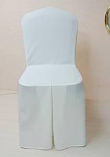Чехол на стул Трапеция из прочной лёгкой ткани Шампань, фото 3