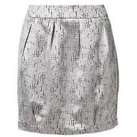 Юбка мини в цвете серебра Synna от Minimum silver mini skirt  в размере S