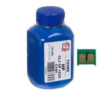 Тонер+чип АНК для HP CLJ CP1025 (тонер АНК, чип АНК) 35г Cyan (1500124)