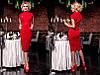 Платье женское длинное приталенное с замком на талии P925